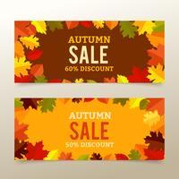Herfst verkoop banners