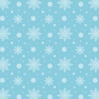 Blauw sneeuwvlokkenpatroon. Wit sneeuwvlokkenpatroon op blauwe achtergrond vector