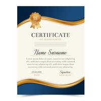 Certificaatsjabloon met luxe en modern design, diplomamalplaatje