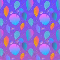 Kleurrijke abstracte moderne bladeren, naadloos patroon