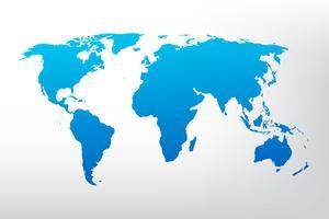 Wereldkaart illustratie