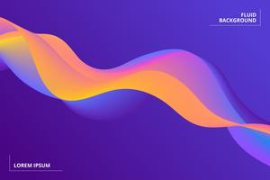 Kleurrijke geometrische achtergrond. Samenstelling van vloeibare vormen vector