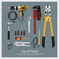 Set van hulpmiddelen collectie vectorillustratie