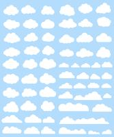 Wolken vector set