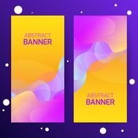 Abstracte moderne gradiëntgolven banners. Dynamisch effect. Futuristische technologiestijl. Ontwerpsjabloon voor webbanners.