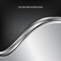 Zilveren technologieachtergrond. Zilver metalen achtergrond.