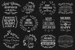 Kerstmis typografische elementen