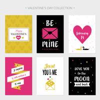 Platte Valentijnsdag kaarten