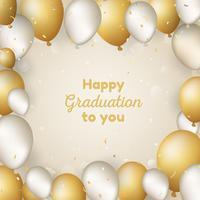 Gelukkige graduatieachtergrond met ballons