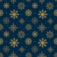 Vintage sneeuwvlokken patroon