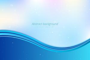Blauwe abstracte golvenachtergrond