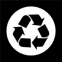 Recycle pictogram vector