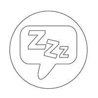 Slaap pictogram vector
