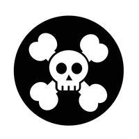 schedel bot pictogram vector