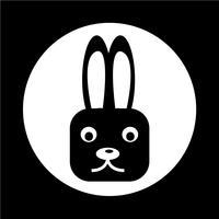 konijn pictogram vector