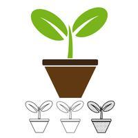 Plant pictogram vector
