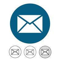 e-mail en post pictogram vector