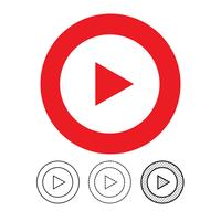 knop video speler pictogram vector