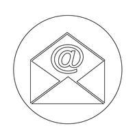 e-mail envelop pictogram