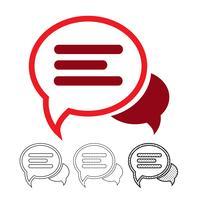 tekstballon chat vector pictogram