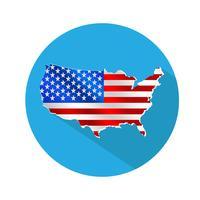 Kaartpictogram van de VS. vector