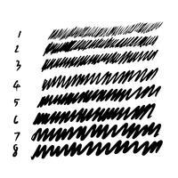 hand lijn lijn beroerte vector