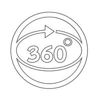 360 graden pictogram