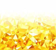Gele veelhoekige mozaïek achtergrond, creatief ontwerpsjablonen vector