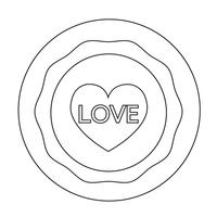 Teken van hart pictogram