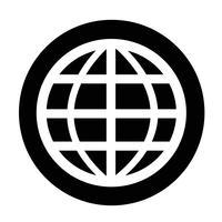 Teken van het pictogram van de wereld