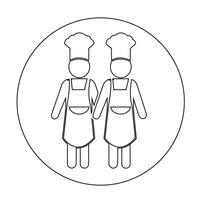 Chef-kok mensen pictogram