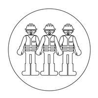 Werknemer mensen pictogram