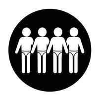 Zwempak mensen pictogram vector