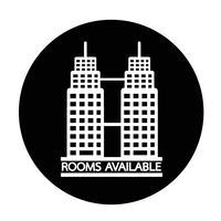 Room beschikbaar pictogram vector