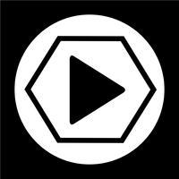 Speel knop pictogram vector