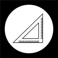 driehoek liniaal pictogram vector
