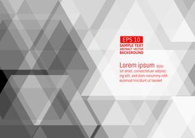 Abstracte geometrische witte en grijze kleur, moderne vectorachtergrond met exemplaarruimte