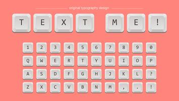 Witte toetsen Typografie