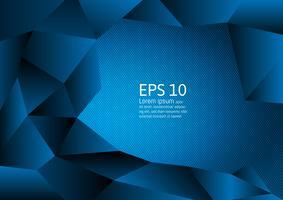 Blauw kleurenveelhoek abstract modern ontwerp als achtergrond, Vectorillustratie met exemplaarruimte