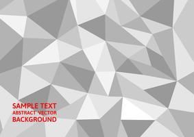 De abstracte achtergrond van de grijze en witte kleurenveelhoek, Vectorillustratie modern ontwerp