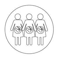 Zwangere vrouw pictogram vector