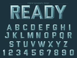gewaagde schuine stalen typografie