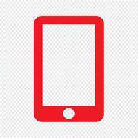 smartphone pictogram vectorillustratie