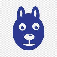 hond pictogram vectorillustratie