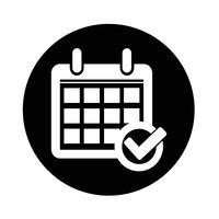 Teken van het pictogram van de kalender vector