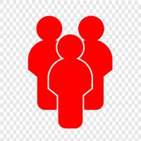 Teken van mensen pictogram vector