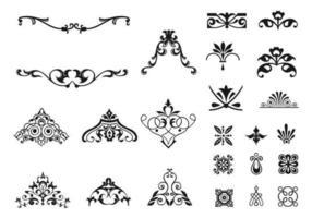 Victoriaanse Ornament Vector Pack