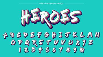 Kleurrijke Graffiti typografie vector
