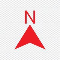Noord pictogram vectorillustratie vector