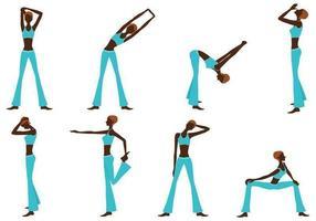Fitness meisje silhouet vector pack
